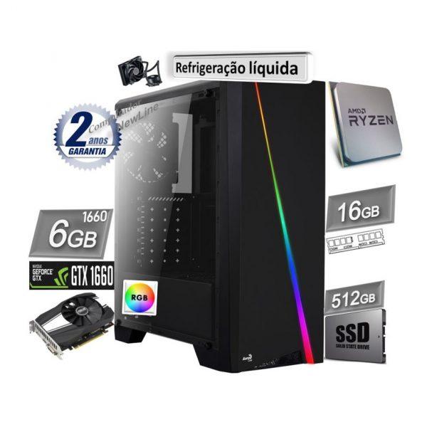 computador newLine AMD 16GB_SSD512GB_GF1660