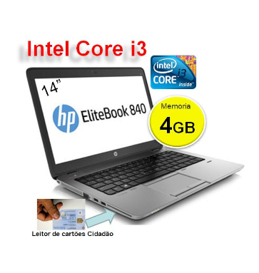 Portátil HP EliteBook 840 G1 | Intel i3 4010 | Memoria 4GB | Disco 320 GB | Ecrã 14p