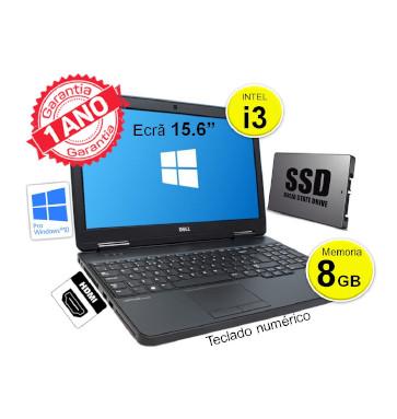 Portátil DELL 5540 | Intel i3 4030 | Memoria 8GB | Disco SSD 120 GB | Ecrã 15.6p | teclado numerico | HDMI