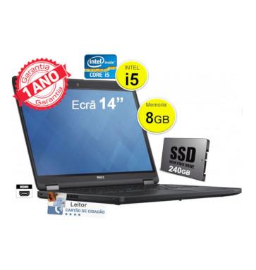 Portátil empresarial DELL Latitude E5450 | Intel i5 | 8GB | SSD 240GB | Ecrã 14″
