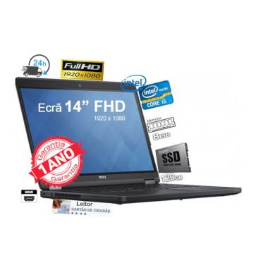 DELL E5450 | Intel Core i5 5300 | Ram 8GB |  SSD  120GB | Ecrã 14p FullHD 1920 x 1080  | Win 10